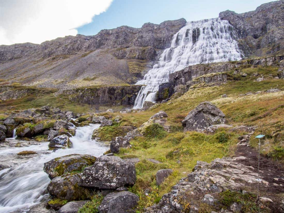 Dynjandi waterfall in Westfjords, Iceland