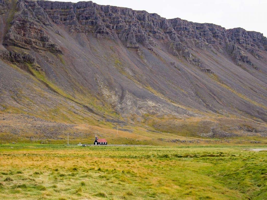 Mountains from Rauðasandur Beach