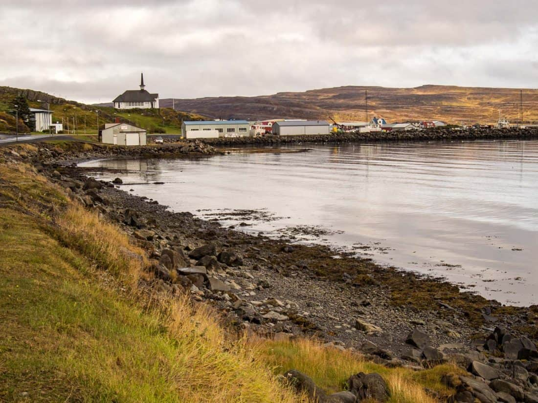 Holmavik, a small town in the Westfjords and one of our Iceland itinerary stops.