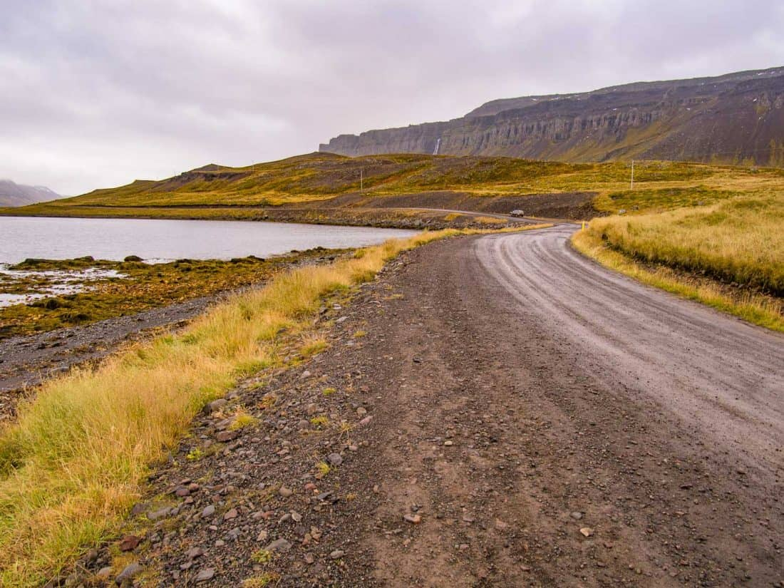 Driving the Strandir coast in Westfjords, Iceland