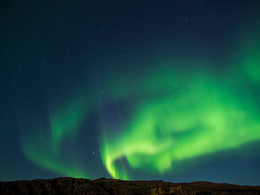 Northern Lights at Bjarkaholt in Westfjords, Iceland