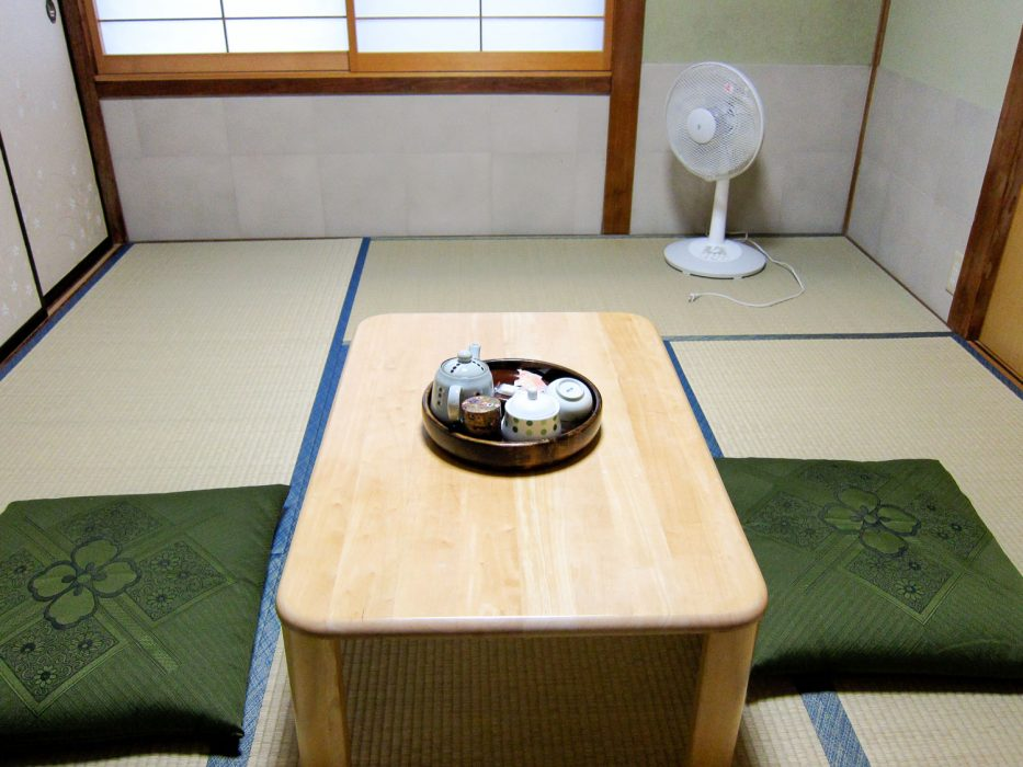 Tatami room in a minshuku, which are great places to stay in Japan if you can't afford a ryokan (traditional inn)