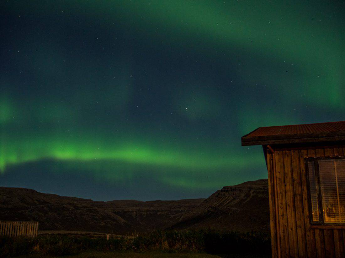 We saw the northern lights in September at our cabin in the Westfjords