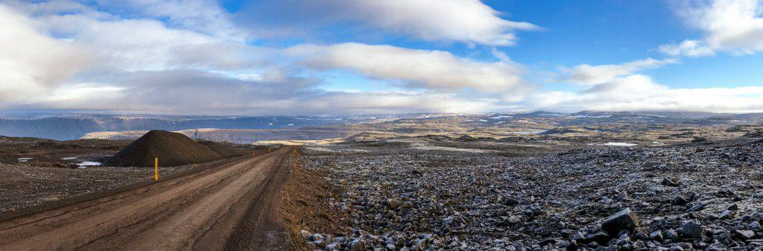 A typically stunning drive in the Westfjords, Iceland
