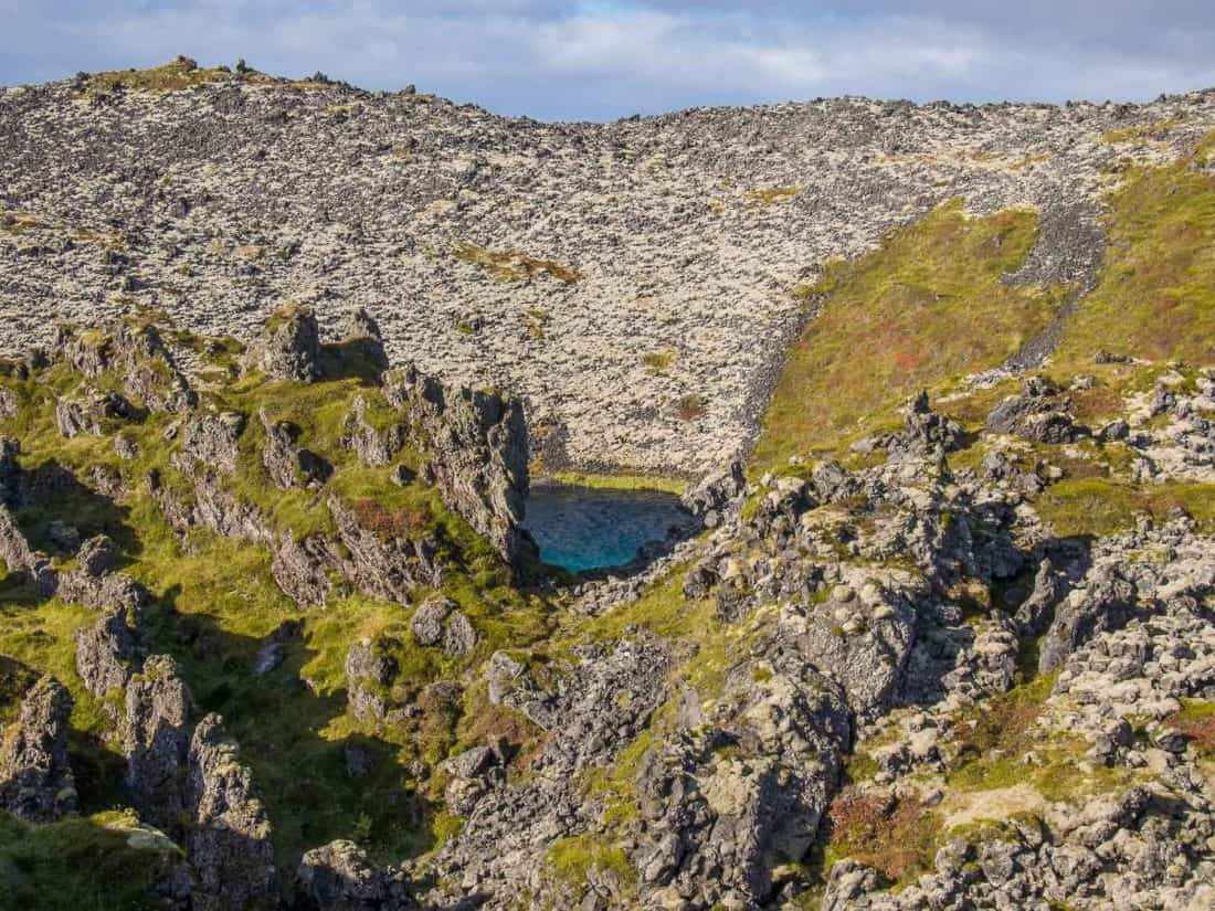 The lava field walk down to Djúpalónssandur beach