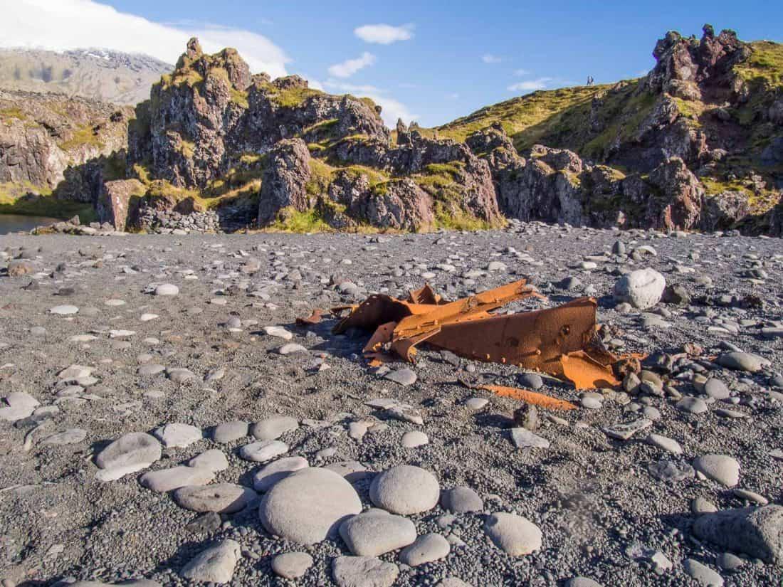 Shipwreck at Djúpalónssandur beach in Snaefellsness Iceland