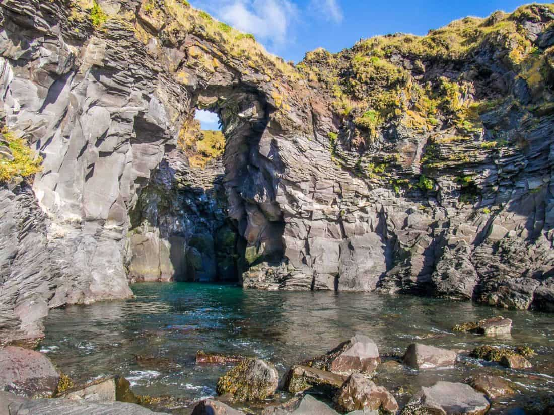 Hellnar sea cave in Iceland