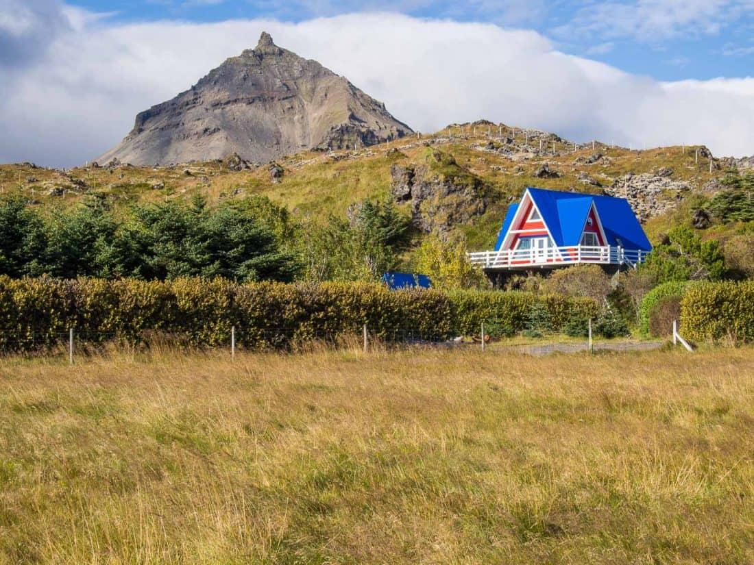 Little blue house in Hellnar, Iceland