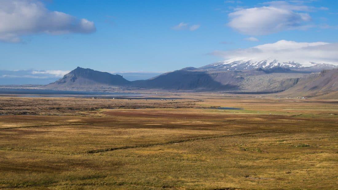 Snæfellsjökull glacier taken near Budir