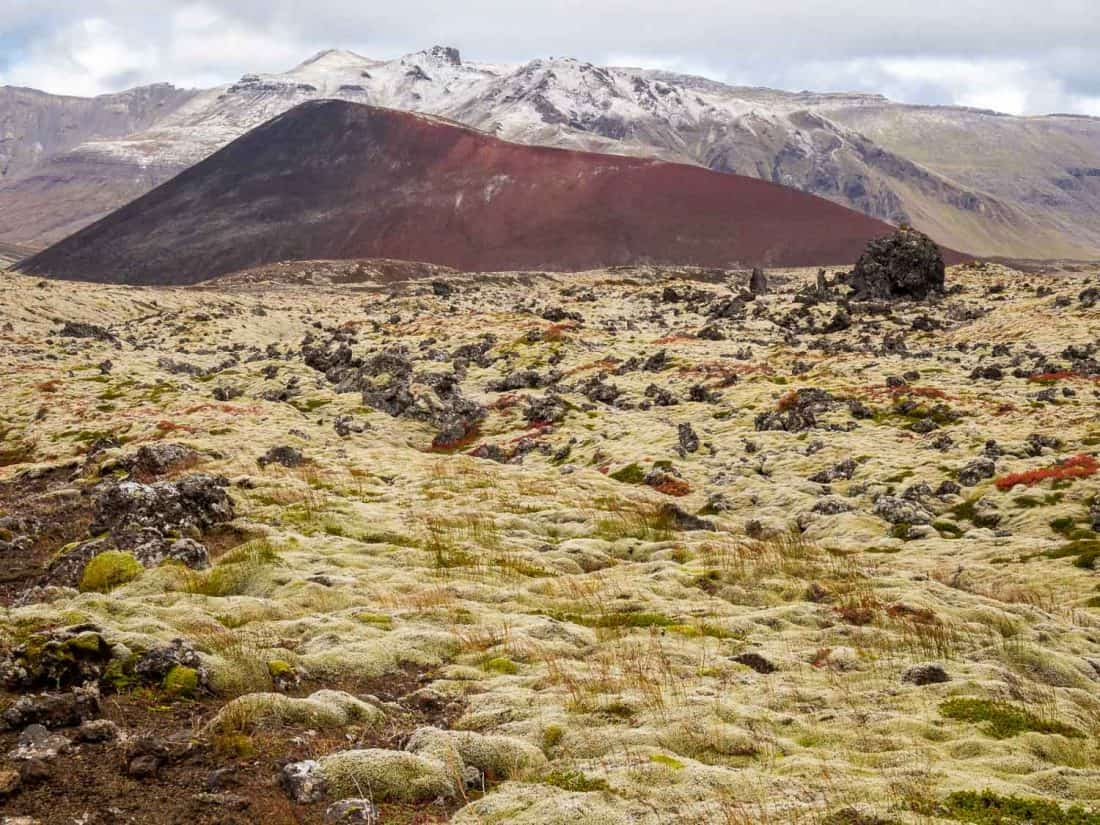 Berserkjahraun lava fields on Snaefellsness Peninsula, Iceland