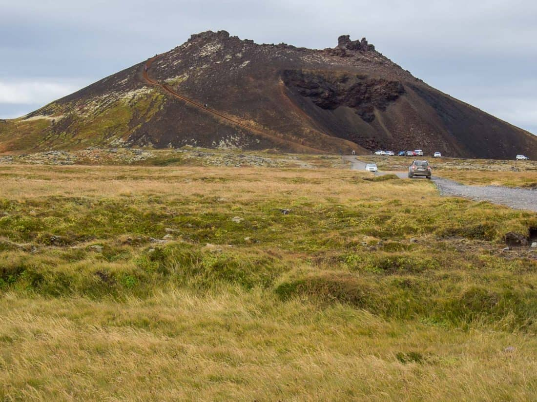 Saxholar Crater in Snaefellsness Peninsula, Iceland