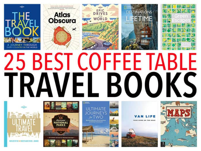 The best coffee table travel books to inspire wanderlust. These beautiful books make great Christmas gifts and include classic bucket list travel books by Lonely Planet as well as more unusual books.