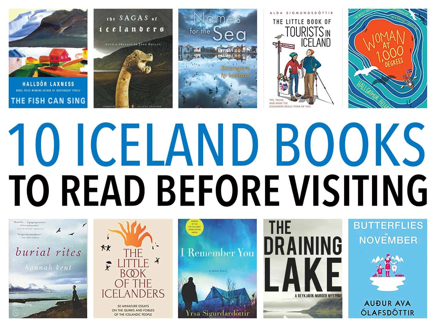 The best Iceland books to read before your visit including non-fiction travel tips, classic Icelandic novels and sagas, and modern Icelandic fiction