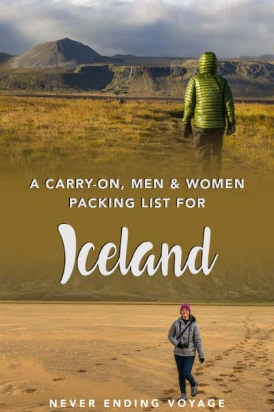 Can you really pack for Iceland carry-on only in the colder months? Yes! We did it, and here's what we brought and how exactly we fit everything. #iceland #icelandpacking #carryononlypacking #packlight