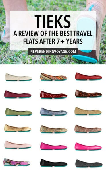 Tieks are one of the best travel shoes out there, and here's why in this complete overview from someone who's been wearing them for 7+ years!