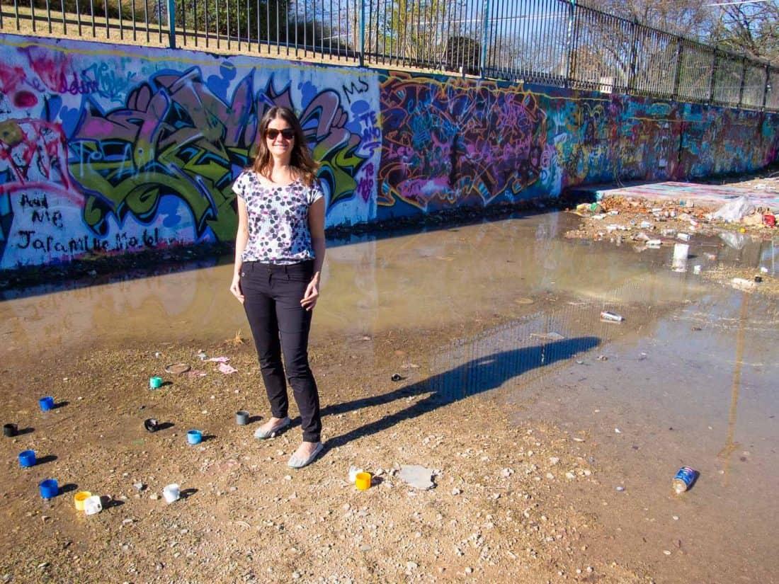 Wearing my Anatomie Luisa pants at the Hope Outdoor street art gallery in Austin