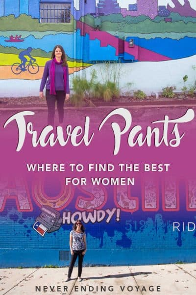 Wondering what the best travel pants for women are? Look no further! From activewear to jeans, here are the top picks. #travelpants #femaletravel #packing #packingtips