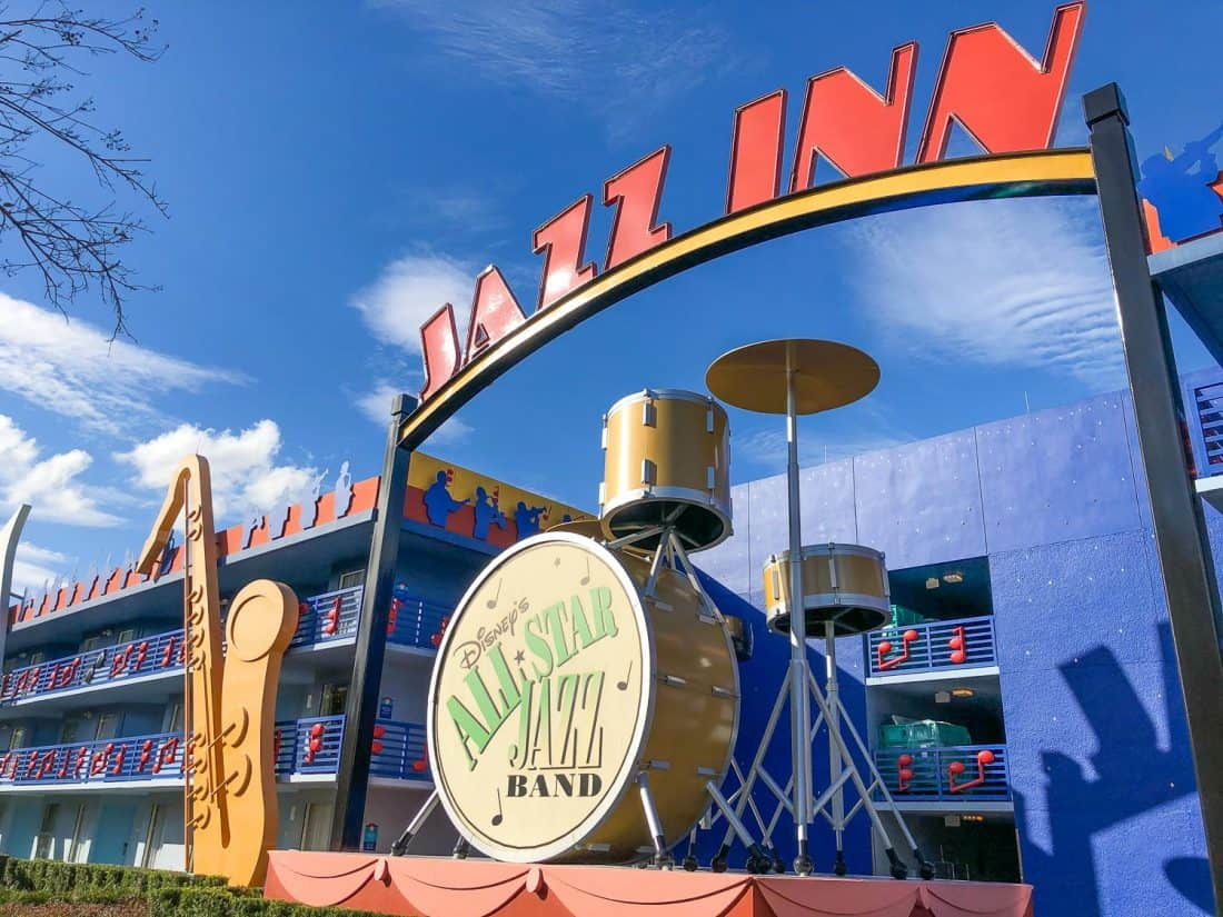 Disney All Star Music resort - the cheapest resort to stay at in Disney World