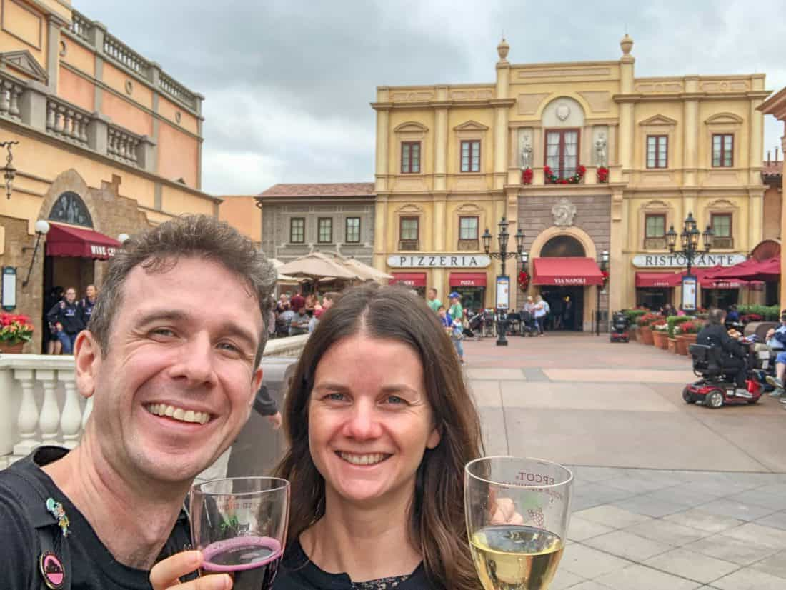 We splurged on a wine tour around Epcot's World Showcase with tastings in Italy, France and Germany