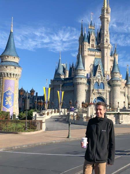 Simon at Magic Kingdom castle