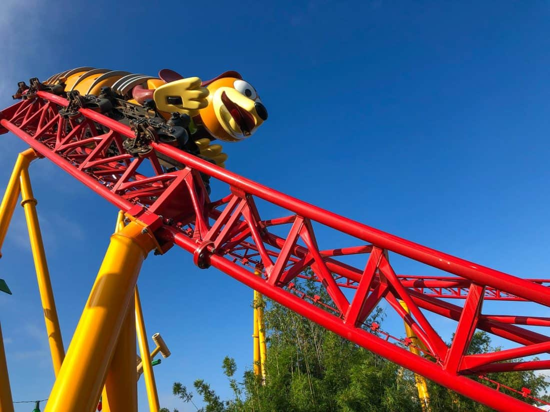 Slinky Dog Dash in the popular new Toy Story Land at Hollywood Studios