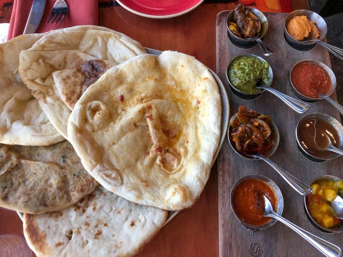 Delicious Indian bread service at Sanaa at Animal Kingdom Lodge