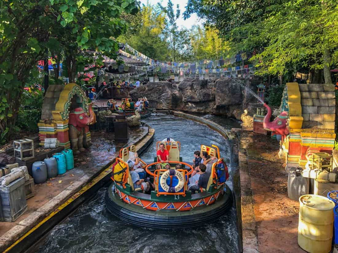 Kali River Rapids, one of the best rides at Animal Kingdom in Disney World Florida