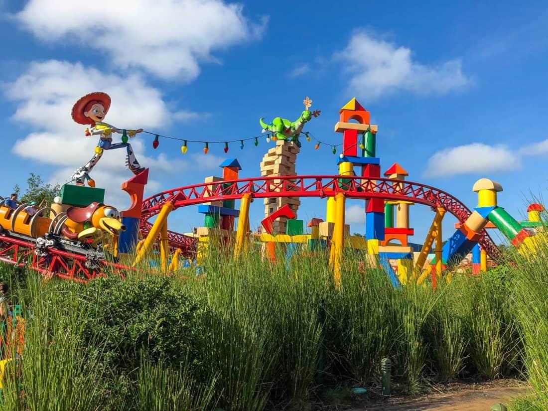Slinky Dog Dash is a colourful new rollercoaster at Hollywood Studios, Disney World Florida