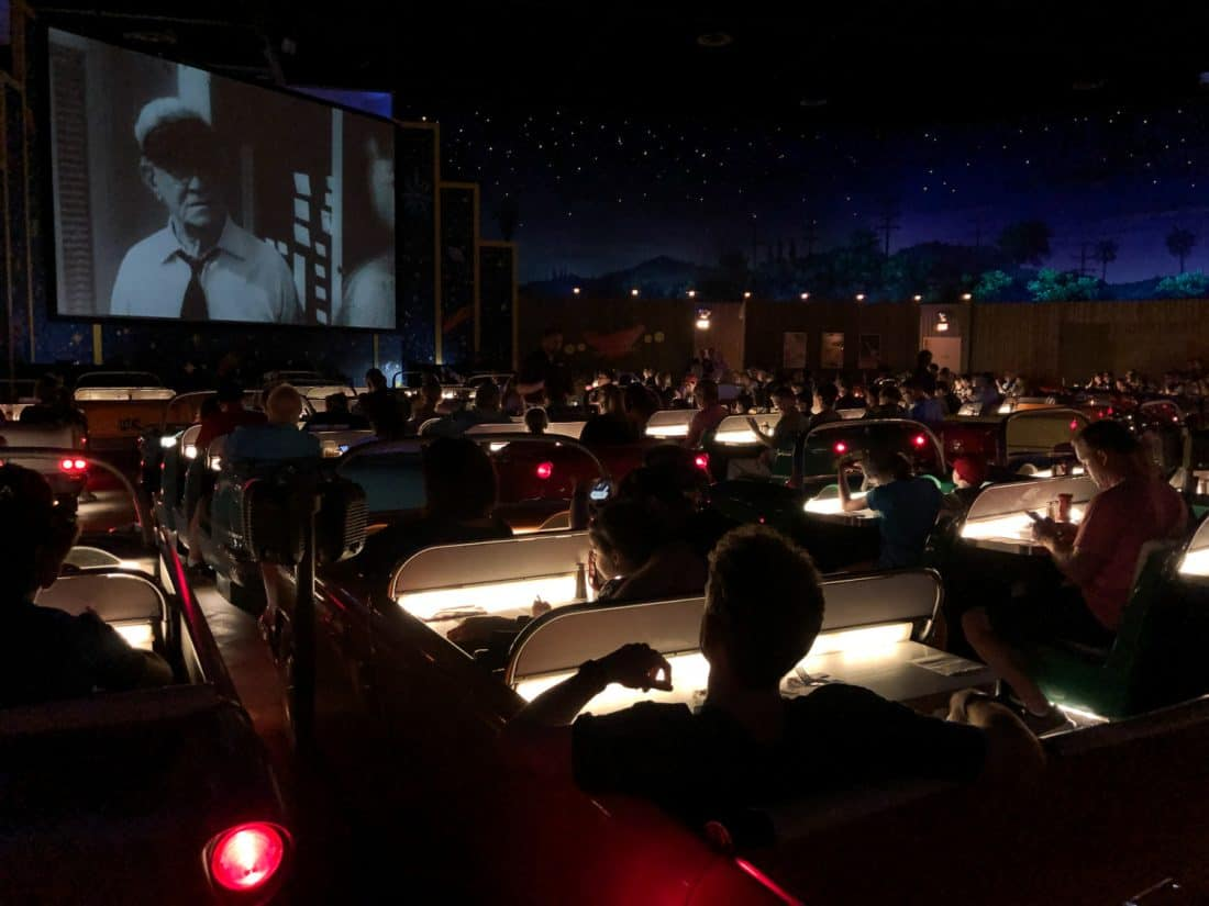 The Sci-Fi Dine-In Theater is one of the best restaurants at Hollywood Studios at Disney World Orlando