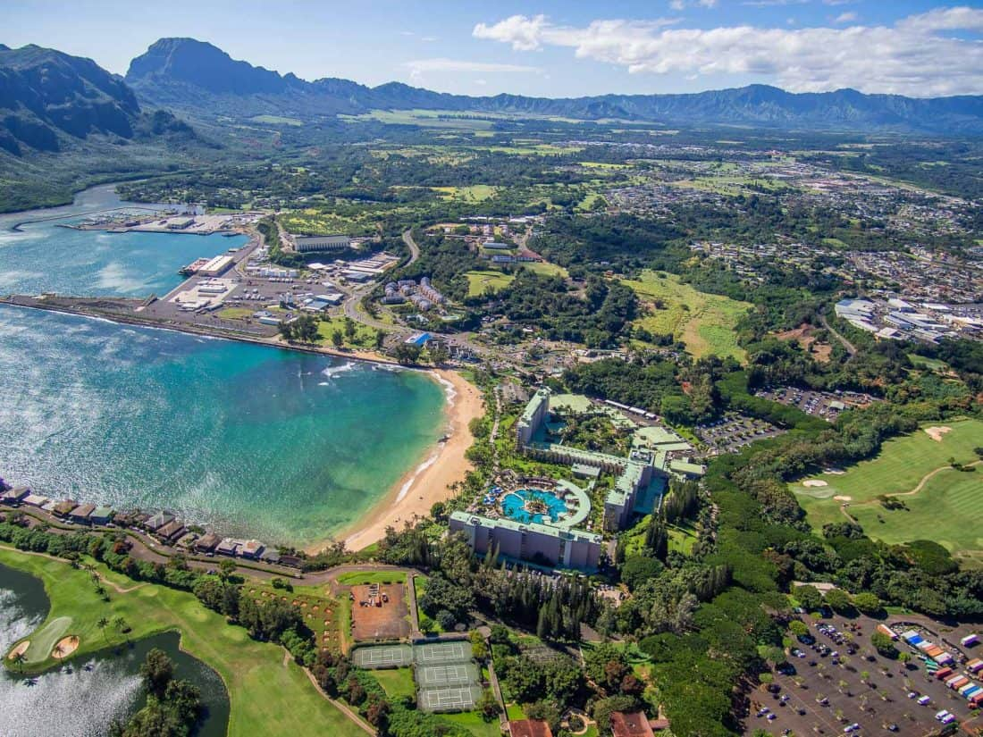 The first view on our doors off helicopter tour of Kauai with Jack Harter