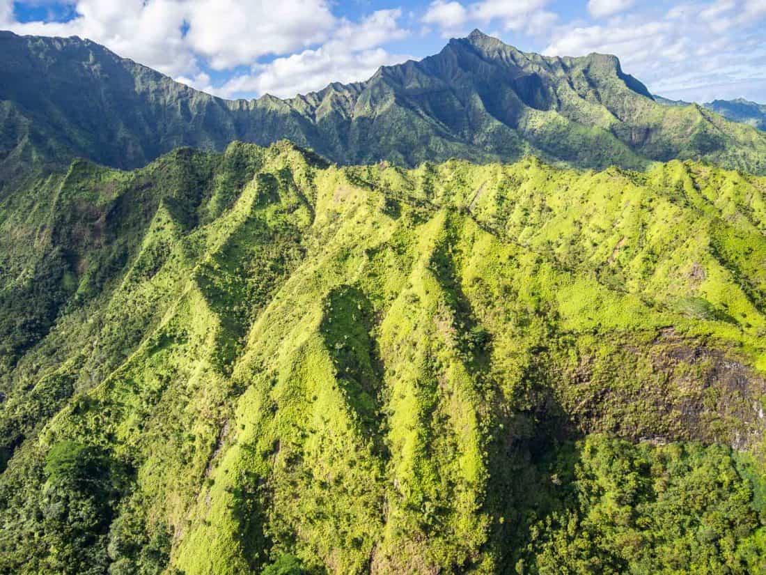 MountWaialeale on a doors off helicopter Kauai tour with Jack Harter