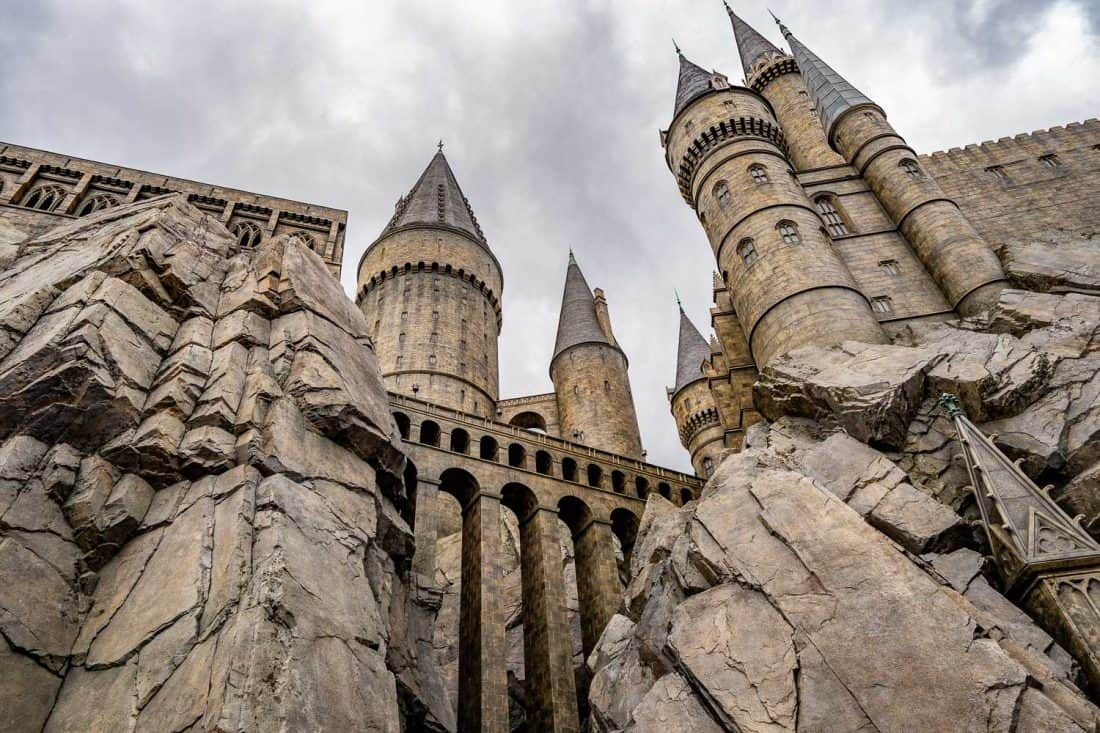 Hogwarts Castle at The Wizarding World of Harry Potter at Universal Studios Japan in Osaka