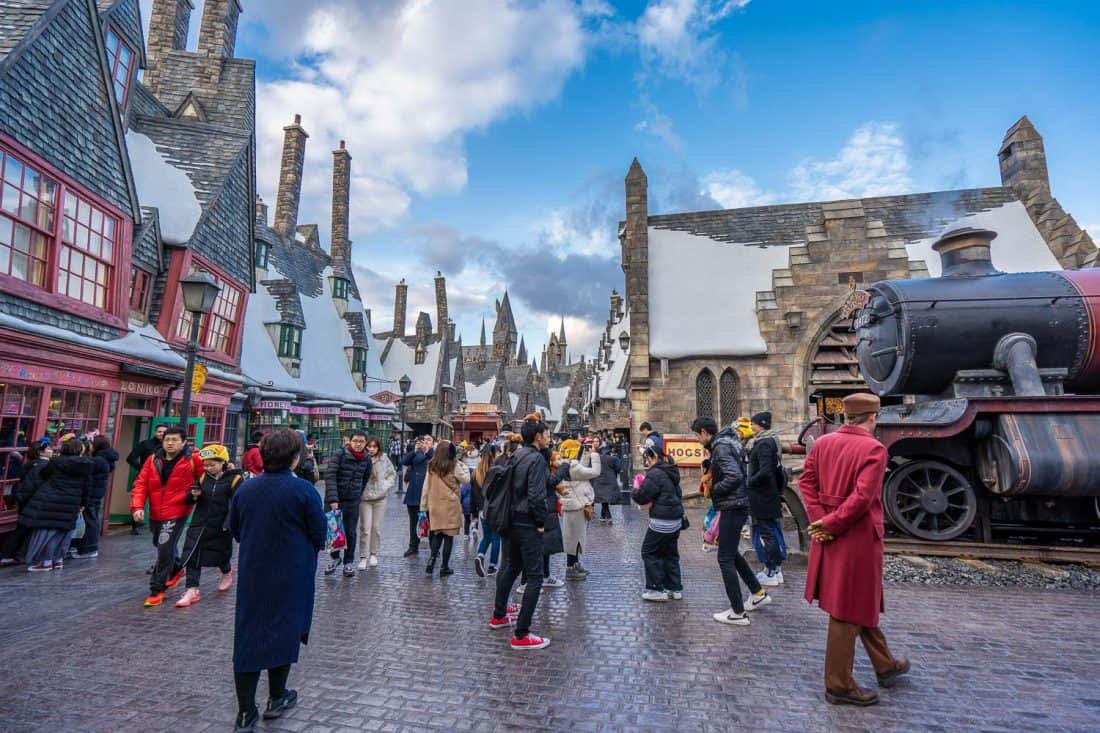 Hogwarts Express at The Wizarding World of Harry Potter at Universal Studios Japan in Osaka