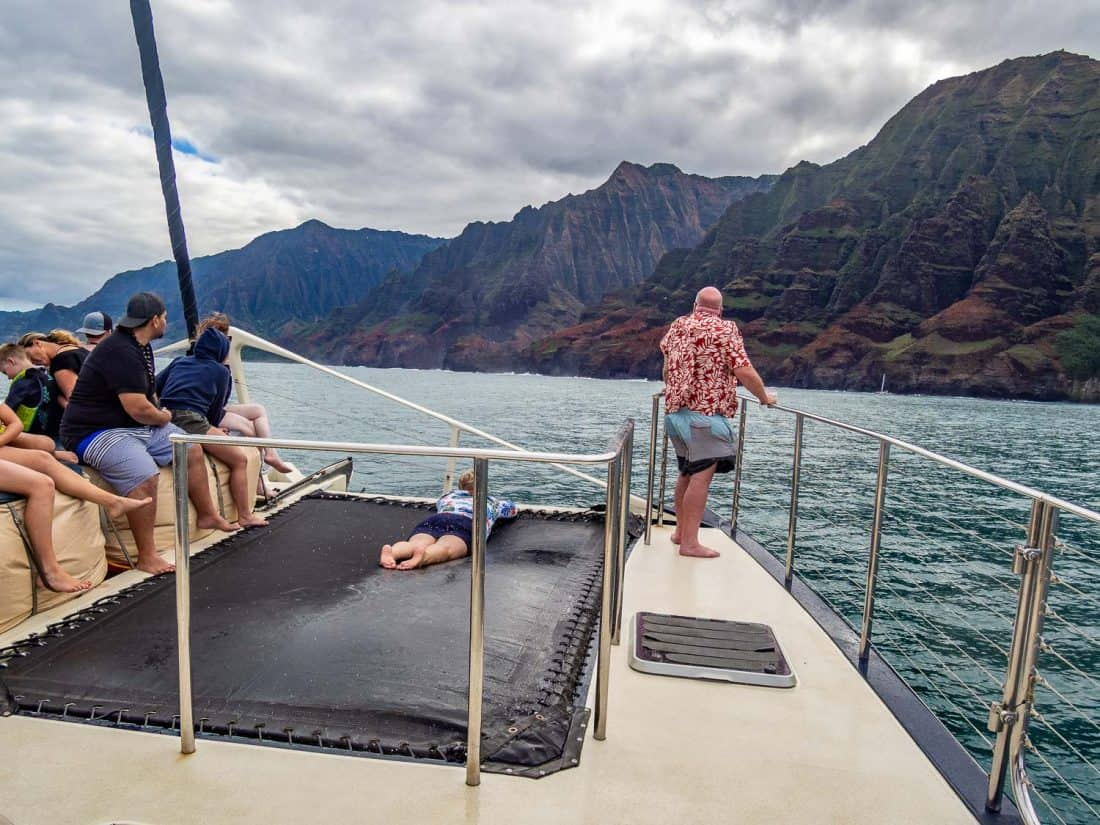 Captain Andy's Star catamaran trip to the Napali Coast, one of the best things to do in Kauai