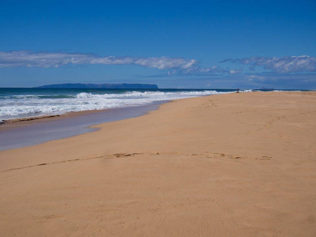 Kekaha Beach in south Kauai