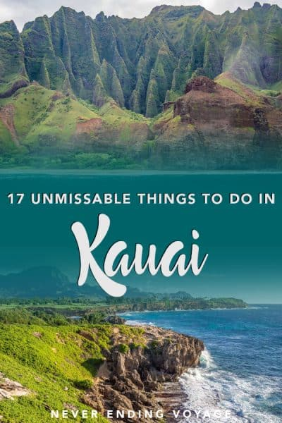 If you decide to spend your holiday in Hawaii, you do not want to miss Kauai. Here are the BEST things to do there! #thingstodoinkauai #hawaii #kauai