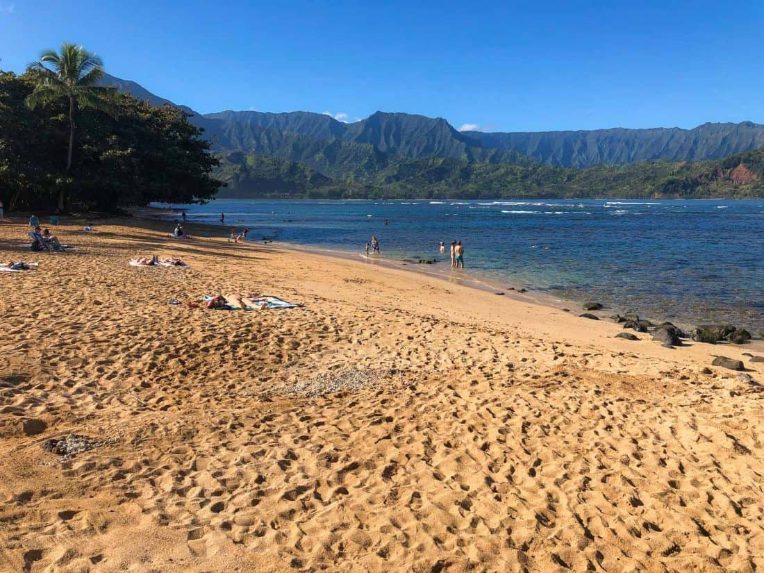 Pua Poa Beachon the north shore is one of the best beaches in Kauai