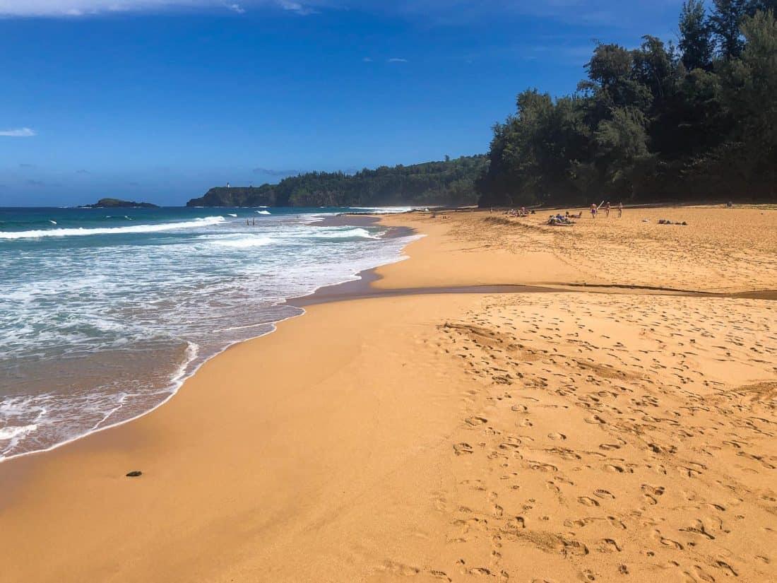 Secret Beach, officially known as Kauapea Beach, on the Kauai north shore