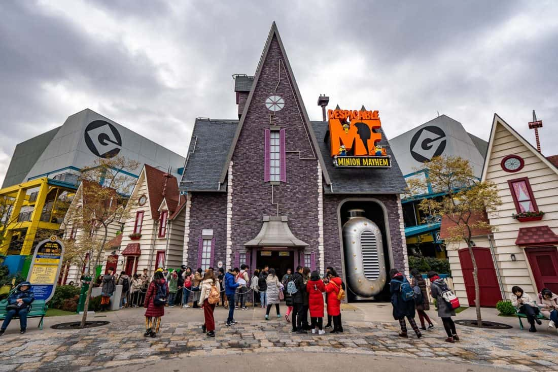 Despicable Me Minion Mayhem in Minion Park, one of the best Universal Studios Japan rides