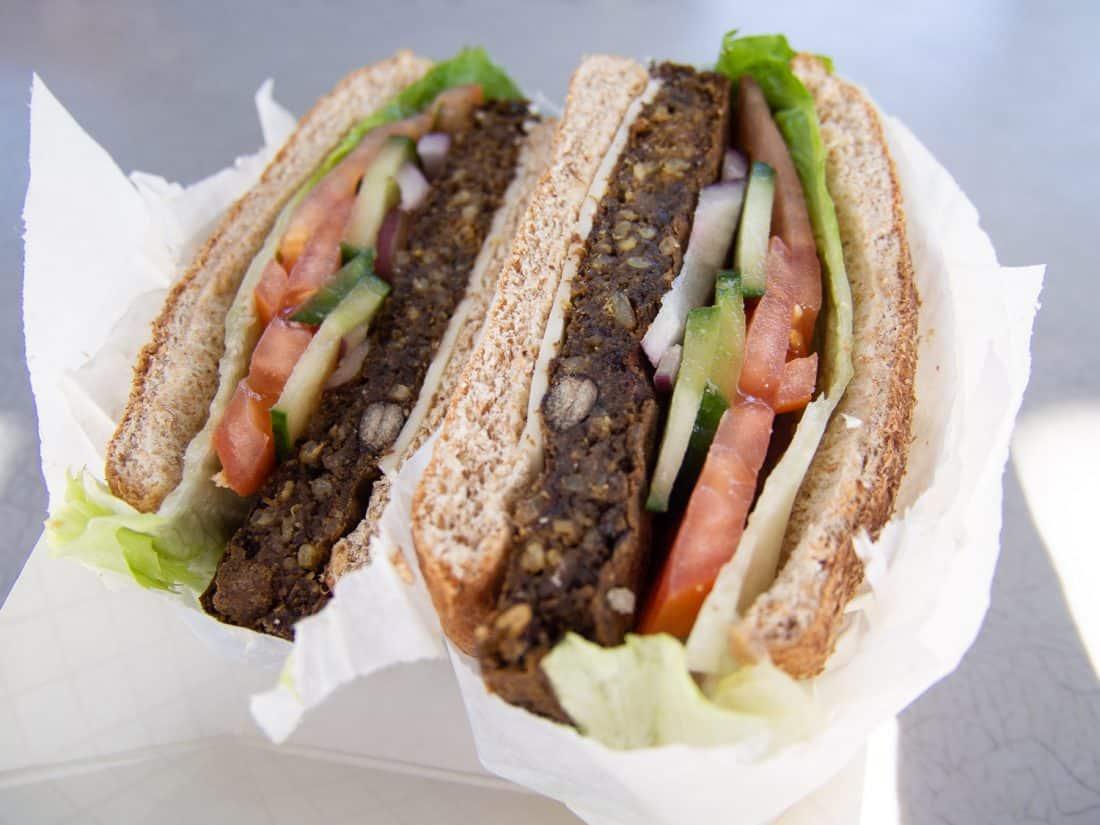 Hanalei Taro veggie burger in Kauai