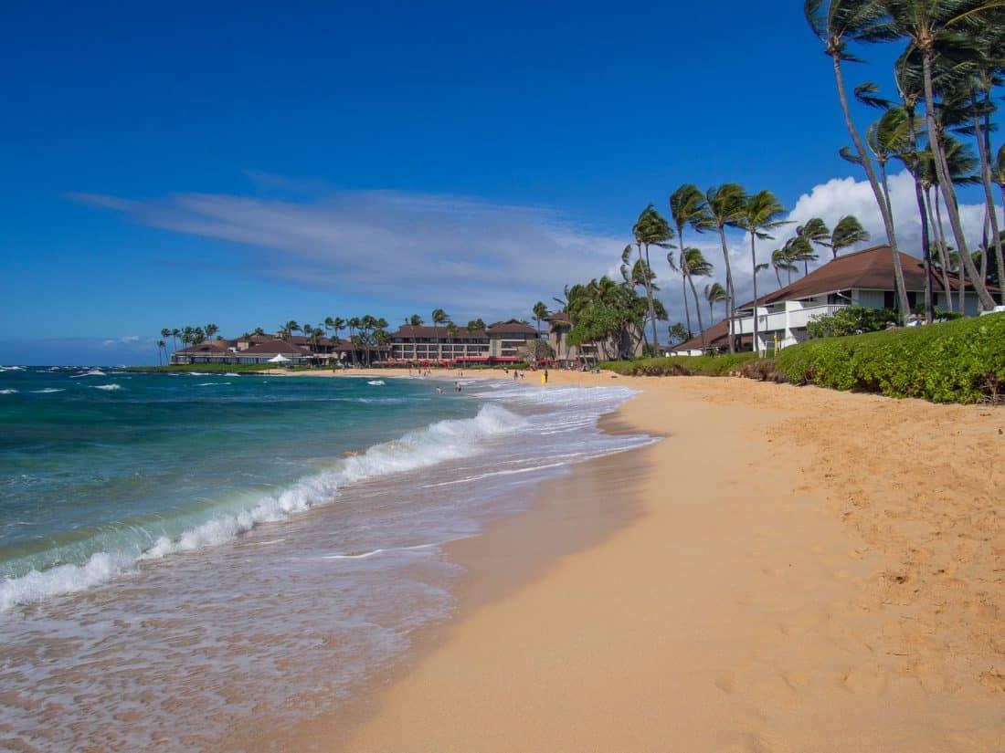 Kiahuna Beach in Kauai