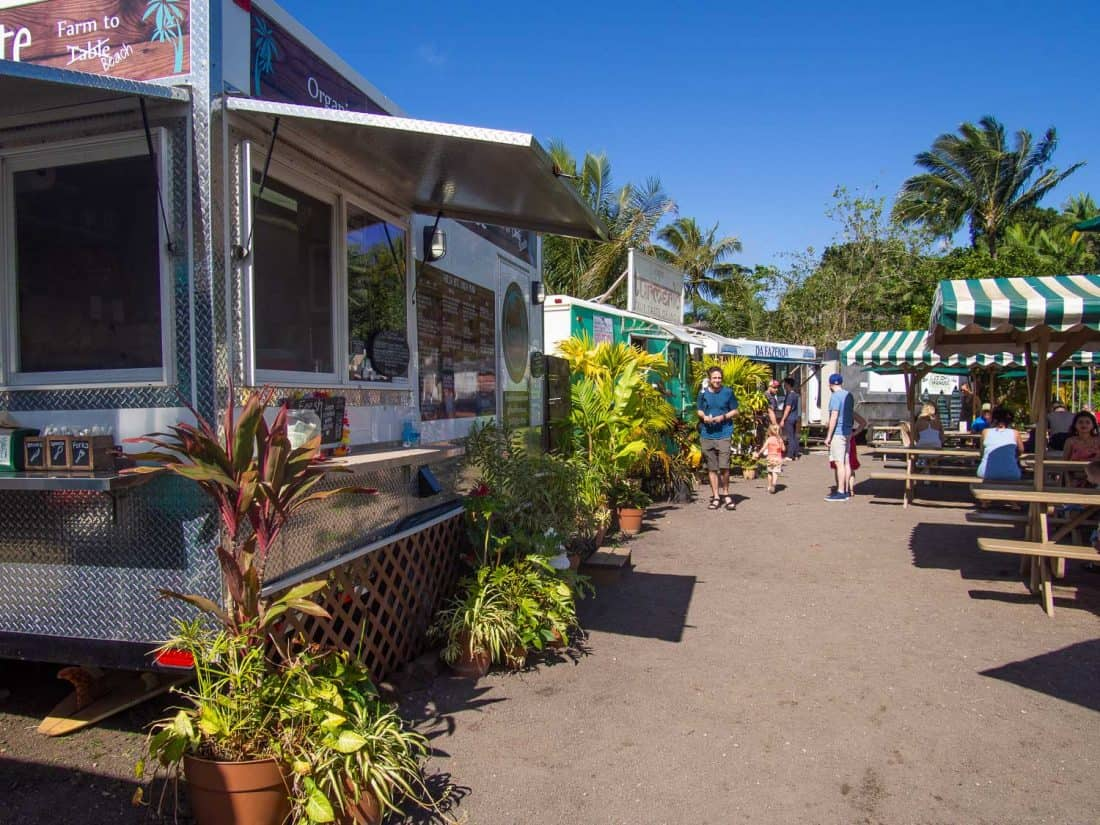 Hanalei Food truck park in Kauai