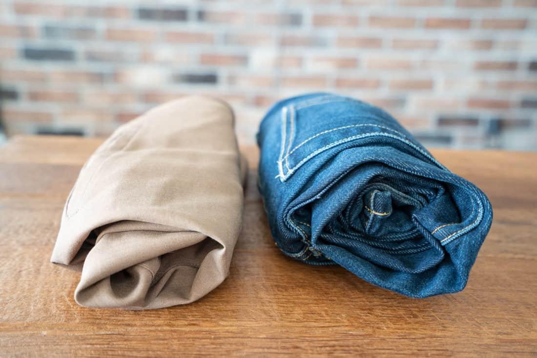 Bluffworks Original pantComparing the Bluffworks jeans and Bluffworks Original Pants rolled up
