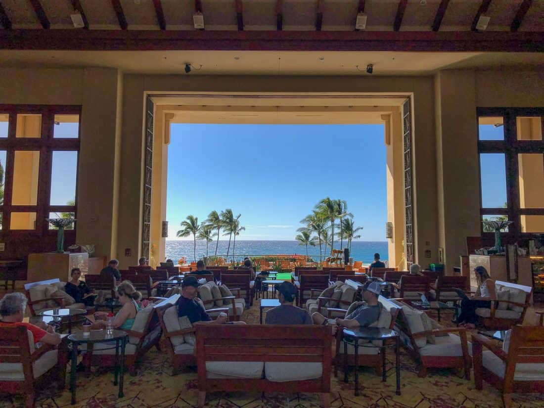 View from the Seaview Terrace cafe in the Grand Hyatt, Poipu