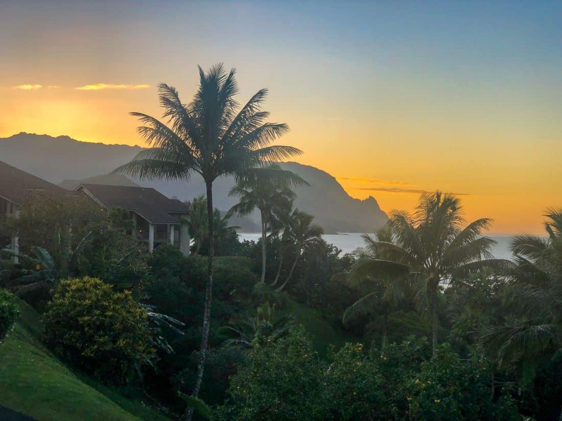 Sunset at Hanalei Bay Resort, Princeville