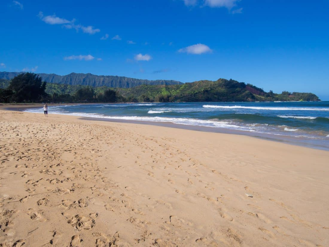 Hanalei Bay beach, Kauai, one of the best places to stay in Kauai