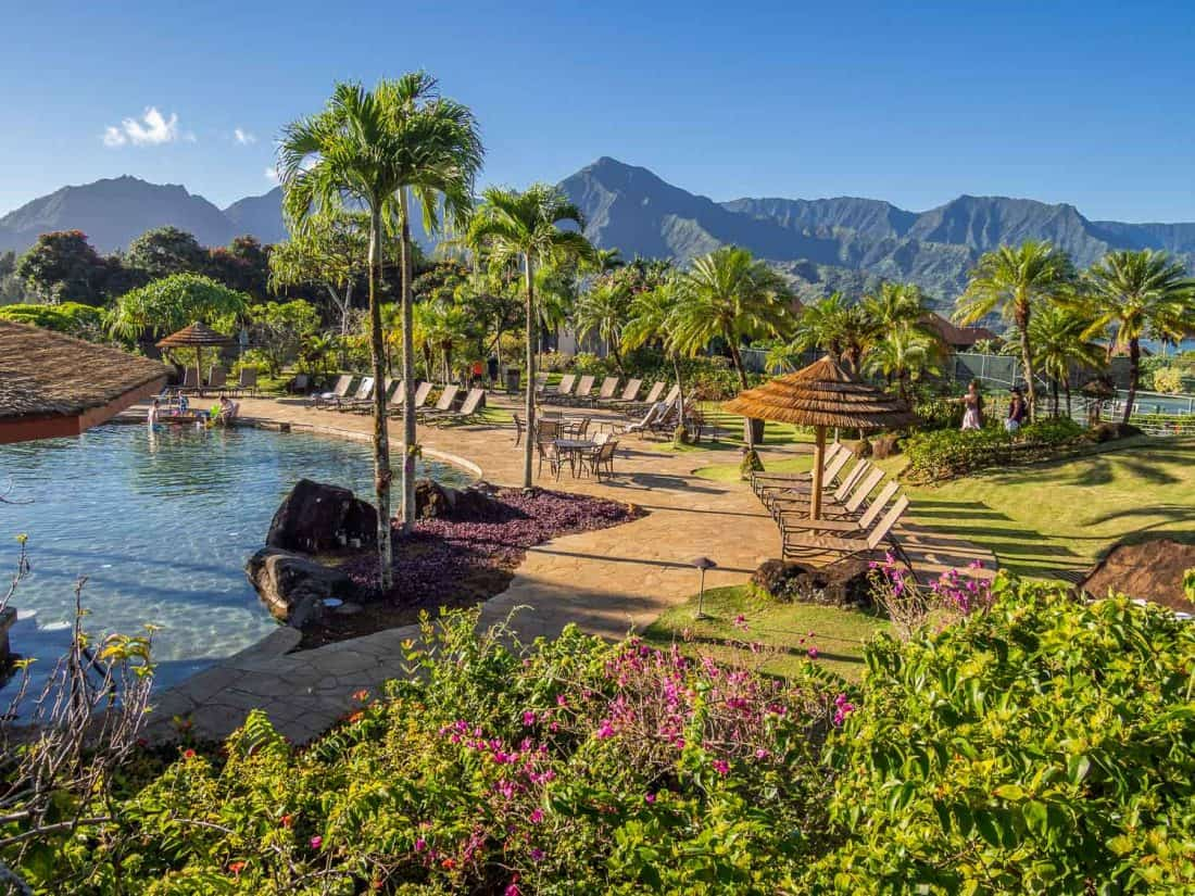 Pool at Hanalei Bay Resort, Princeville, Kauai