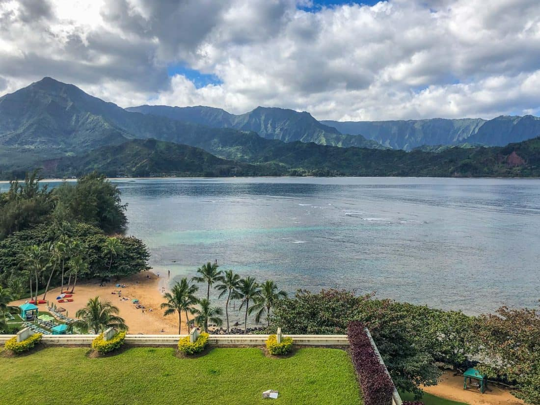 View from the upper levels of the Princeville Resort, Kauai