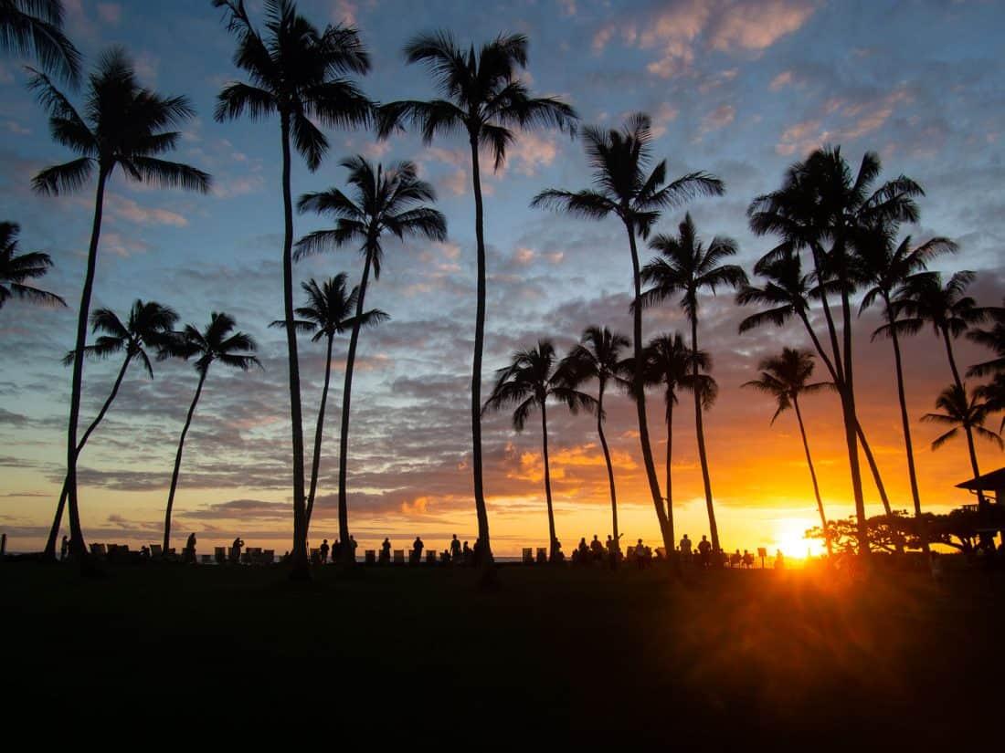 Sunset at Kiahuna Plantation in Poipu, Kauai