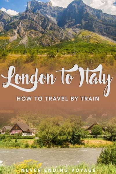 Here's how to make the most of your train travel from London to different parts of Italy.